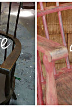 milk paint windsor chair, painted furniture, It s a bit squished but here they are side by side