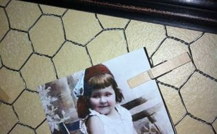diy chicken wire frames, crafts, repurposing upcycling