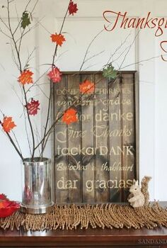 thanksgiving tree, crafts, seasonal holiday decor, thanksgiving decorations, Thanksgiving Tree by Sand Sisal