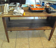 primitive farmhouse table island, painted furniture, Before probably should have saved it for a work table