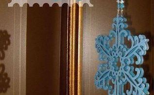 easy diy snowflake wall hanging, crafts, seasonal holiday decor