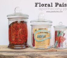 how to paint paisley apothecary jars plus a fun martha stewart giveaway, painting