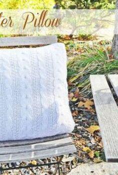 diy sweater pillow, crafts