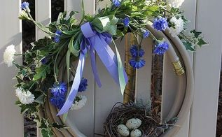 watering hose wreath tutorial, crafts, flowers, gardening, wreaths, This is the first watering hose wreath I made The one my neighbor liked