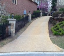 columns and landscaping, concrete masonry, curb appeal, landscape, lawn care