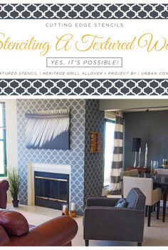 stenciling a textured wall yes it s possible, home decor, living room ideas, paint colors, painting, wall decor