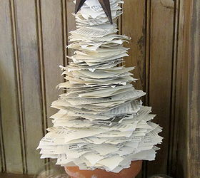 ordinary christmas tree made from book pages part 6 book page christmas tree