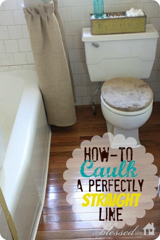 How to caulk a perfectly straight line hometalk for Bathroom caulking service