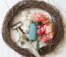 spring wreath, crafts, seasonal holiday decor, wreaths
