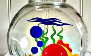 a fish tank night light, lighting, repurposing upcycling, Elmo s World Fish Tank Night Light for kids