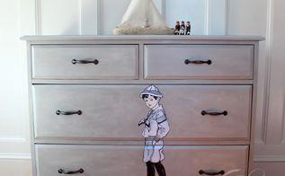 a sailor dresser, chalk paint, home decor, painted furniture, Decoupaged Nautical Dresser After
