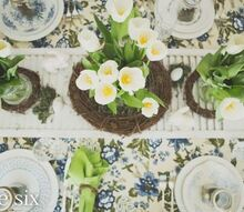 farmhouse easter tablescape, easter decorations, seasonal holiday d cor