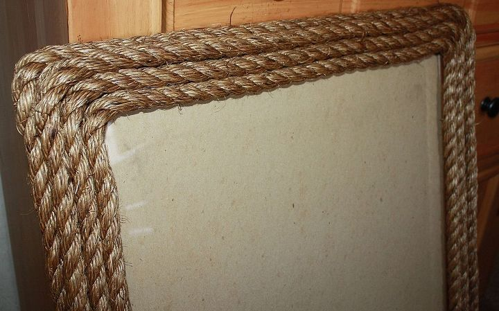 diy rope frame rustic decor crafts repurposing upcycling close up