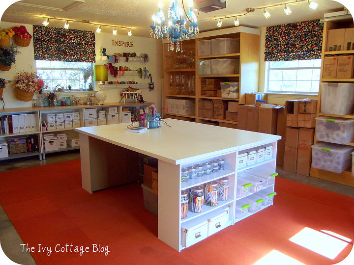 diy crafting table craft rooms painted furniture storage ideas another view of