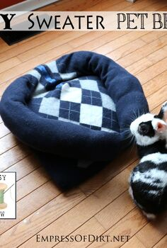 turn your old sweater into a pet bed, pets animals, repurposing upcycling, Turn an old sweater into a washable pet bed