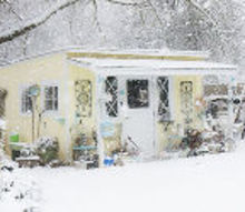 christmas cottage thankful for snow, christmas decorations, outdoor living, seasonal holiday decor, They showed my picture on the valley News report about 30 miles away