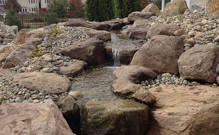 landscaping renovation, landscape, ponds water features
