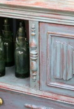 use hemp oil amp milk paint to create a chippy old painted finish, painted furniture
