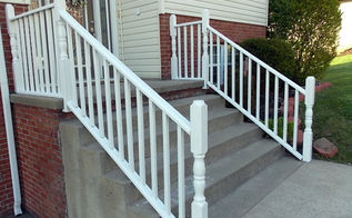 diy curb appeal painting handrails, curb appeal, decks, diy, painting