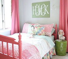 pink painted big girl bed, bedroom ideas, home decor, painting, After