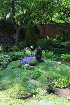 garden tour a beautiful tapestry, flowers, gardening, This small mounded planting includes a varied carpet of fragrant thymes