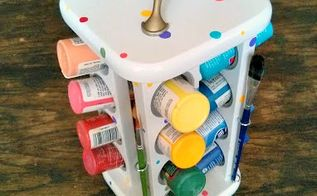 a brilliant storage idea for an old spice rack, organizing, painting, repurposing upcycling