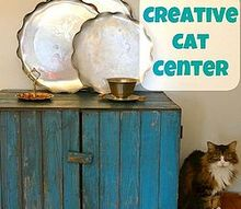 creative cat litter center, painted furniture, pets animals, repurposing upcycling