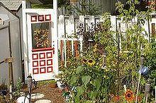 repurposed door, gardening, outdoor living