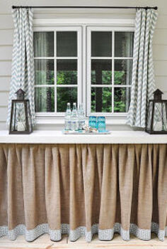 diy skirted table, crafts