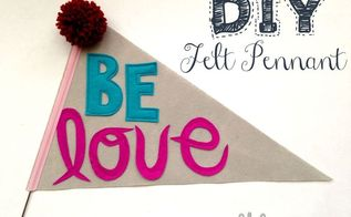 diy felt pennant, crafts, home decor, Simple decor that could look great personalized for kids bedrooms