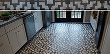 stencil your floor with our shipibo stencil, flooring, painting, Finished stenciled Shipibo floor with Cutting Edge Stencils
