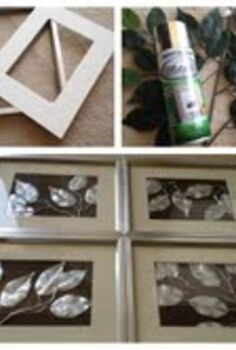 5 00 cute easy and cheap wall art, home decor, Spray Paint Leaves Frame Easy DIY Wall Art
