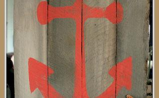 nauty pallet art nautical anchor art, crafts, home decor, pallet, repurposing upcycling