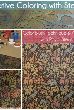 create an elegant wall stencil pattern with layered colors, diy, home decor, how to, painting, Creative Coloring with Stencils Color Blush Technique Antiquing with Royal Stencil Cremes