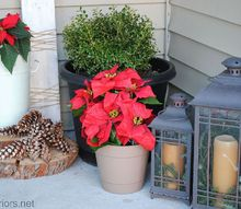 cozy adirondack christmas porch, curb appeal, porches, seasonal holiday decor