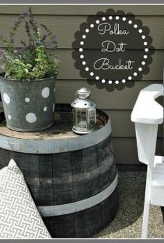 paint your old buckets, crafts, flowers, gardening, repurposing upcycling