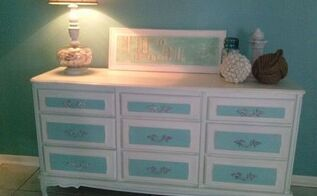20 craigslist credenza turned beautiful beachy buffet, painted furniture, repurposing upcycling