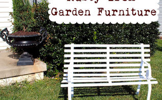 how to paint rusty iron garden furniture, painted furniture