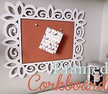 framed corkboard, crafts, Easy and simple to make for less than 10