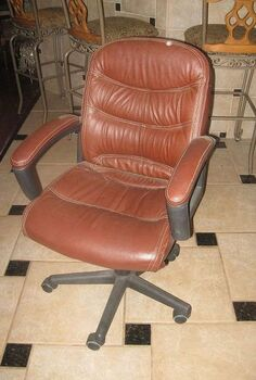 giving an ugly office chair a new life, painted furniture, A typical office chair dull boring but comfy