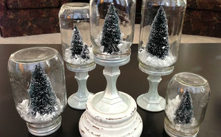 diy mason jar snow globes, crafts, mason jars