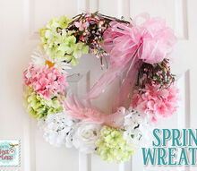 spring flowered wreath, seasonal holiday d cor, wreaths