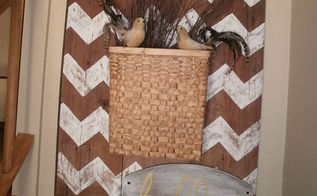 barn wood adds character to entryway, crafts, foyer, repurposing upcycling, Upcycled Barn Wood