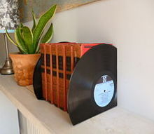 how to upcycle old vinyl records, home decor, repurposing upcycling, Vinyl Bookends