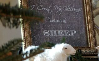 counting your blessing and sheep christmas vignette, seasonal holiday d cor