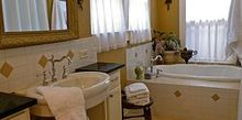 is a large bathroom possible in an old house yes it is, bathroom ideas, home decor, A cramped bathroom in a 100 year old house turns into a roomy spa like space complete with soaking tub shower and pedestal sink