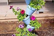 bird bath planter, gardening, Bird bath planter