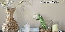 summer home decor on a budget, crafts, home decor, Make these designer inspired seagrass hurricanes for a FRACTION of the designer price Get the look for way less
