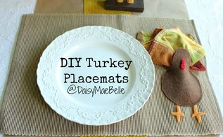 diy turkey placemats, seasonal holiday d cor, thanksgiving decorations, Perfect for your Thanksgiving table