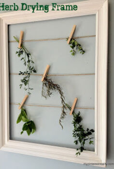 herb drying frame, crafts, gardening, Hang herbs to dry